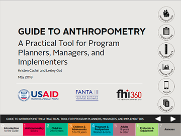 cover of Anthropometry Guide
