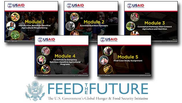 A new course, designed for USAID staff and external partners and hosted on Agrilinks and USAID University, introduces Feed the Future nutrition-sensitive agricultural programming guidance.