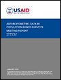 cover of USAID Anthropometric meeting report