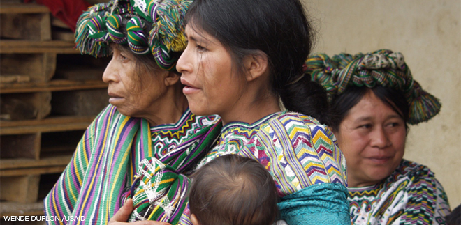 women and a baby in Guatemala