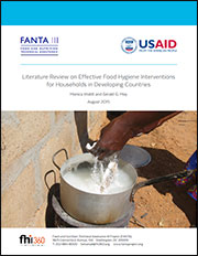 Cover of the report Literature Review on Effective Food Hygiene Interventions for Households in Developing Countries