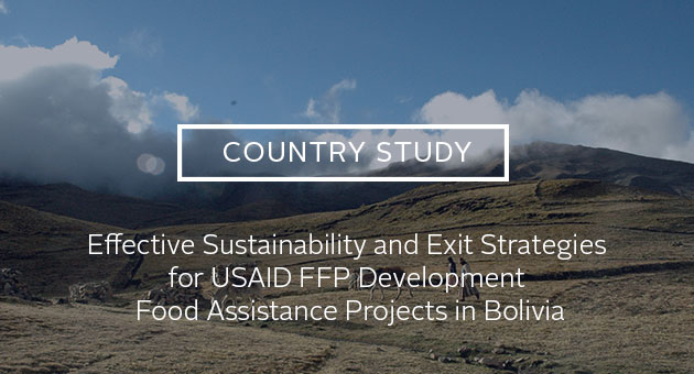 Country Study: Sustaining Development: Results from a Study of Sustainability and Exit Strategies among Development Food Assistance Projects—Bolivia Country Study. Photo of rolling pastures and cattle