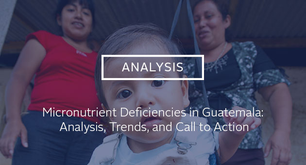 Analysis: Micronutrient Deficiencies in Guatemala: Analysis, Trends, and Call to Action. photo of a baby being weighed in Guatemala.