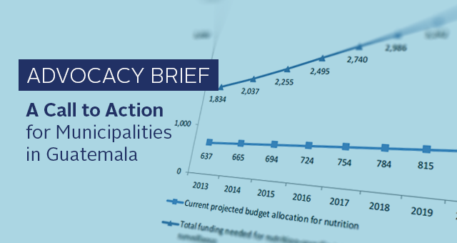 Advocacy Briefs: A Call to Action for Municipalities in Guatemala. Picture of a graph of nutrition funding disparities.