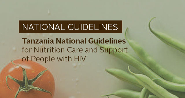 National Guidelines: Tanzania National Guidelines for Nutrition Care and Support of People with HIV. Photo of produce
