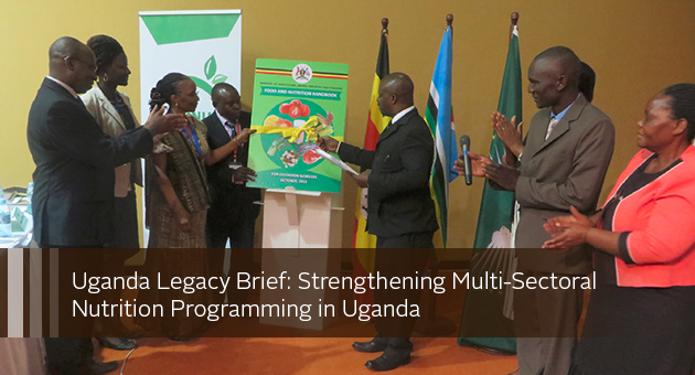 Uganda Legacy Brief: Strengthening Multi-Sectoral Nutrition Programming in Uganda. photo of ceremony
