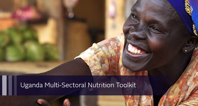 Uganda Multi-Sectoral Nutrition Toolkit. photo of woman selling produce at a market stall
