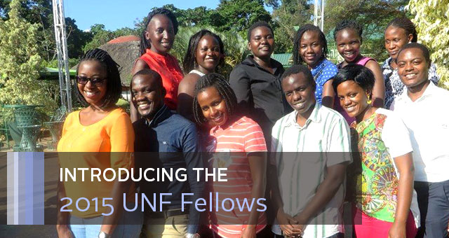 Introducing the 2015 UNF Fellows. Group photo