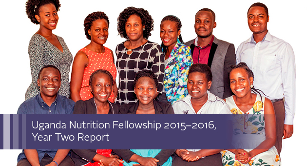 Uganda Nutrition Fellowship 2015-2016, Year 2 Report. Group photo of the fellows