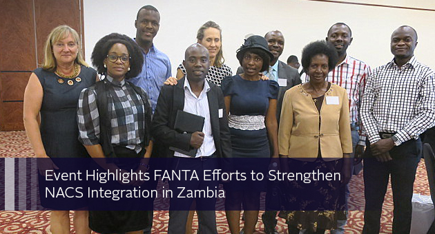 Event Highlights FANTA Efforts to Strengthen NACS Integration in Zambia. group portrait