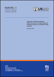 cover of Landscape of Nutrition Indicators