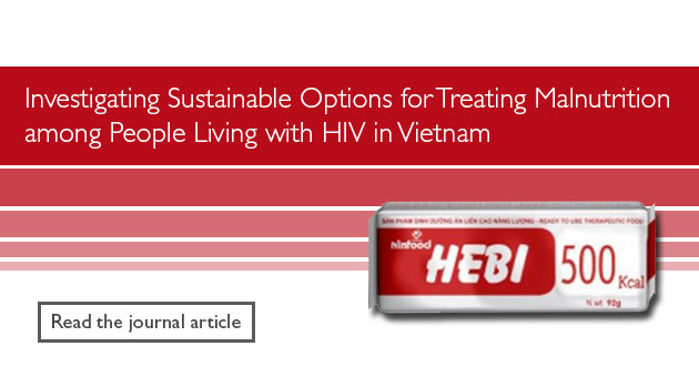 Investigating Sustainable Options for Treating Malnutrition among People Living with HIV in Vietnam. Image of HEBI 500 kcal. Read the journal article.