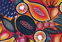 colorful pattern depicting produce