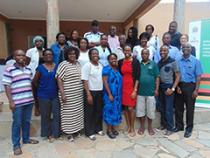 Group gathered together for photo at the Workshop