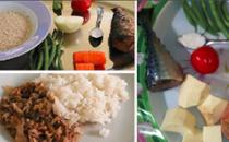 collage of dishes and ingredients