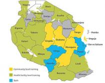 Image of map of Tanzania