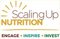 Scaling Up Nutrition logo. Engage Inspire Invest