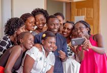 Uganda Nutrition Fellows taking a selfie.