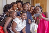 group photo of the fellows taking a selfie