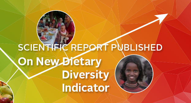 Scientific Report Published on the New Dietary Diversity Indicator. Picture of women and girls and food.
